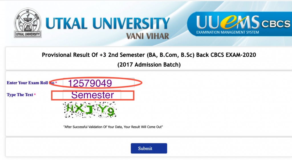 Utkal University Result 2021, How to check online utkal university exam result 2021