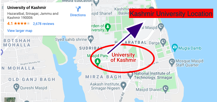 Where is a Kashmir University, How to check University of Kashmir 2021, Kashmir University Examination Result 2021,