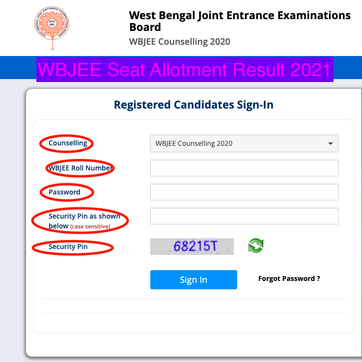 WBJEE Seat Allotment Result 2021 check here