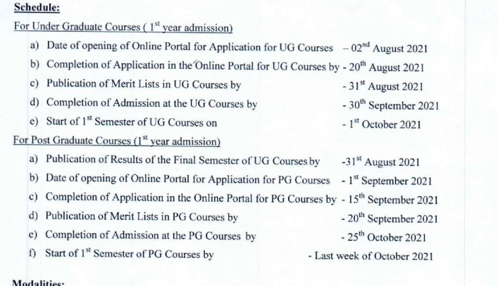 City College of Commerce and Business Administration Merit list 2021 Important Dates