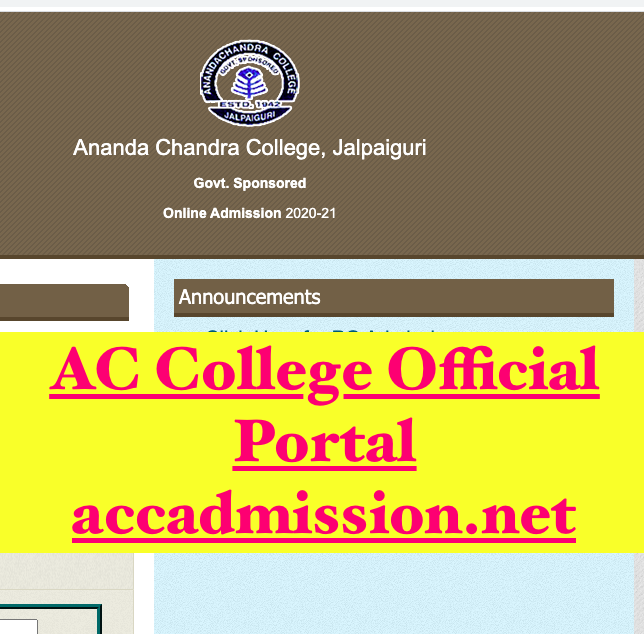 ac college admission portal link to download ug merit list - step by step process