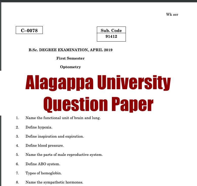 alagappa university previous year question papers download pdf here available for download ug pg ba bsc ma msc bba mba