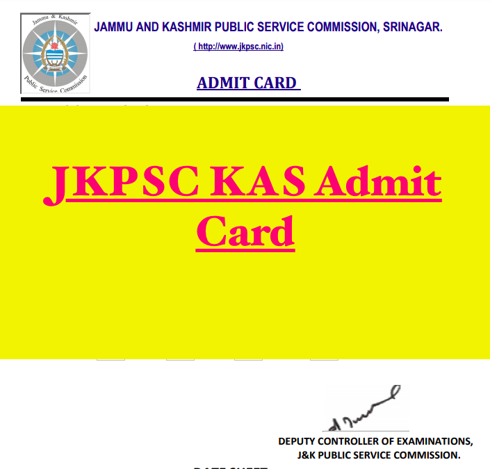 jkpsc kas admit card sample 2021 for cce prelims exam