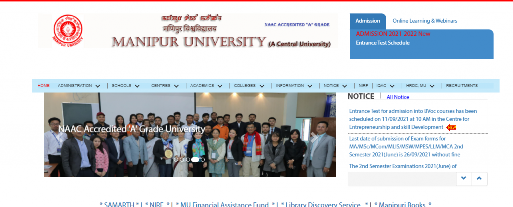 Manipur University Result 2021{Out}; 1st 2nd 3rd Year Semester Exam Result @manipuruniv.ac.in / Manipur University Exam Result 2021-22,