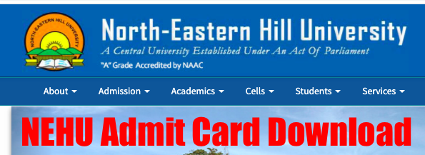 nehu admit card 202 released for online exam