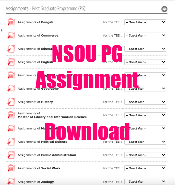nsou pg assignment 2021 download pdf all subject
