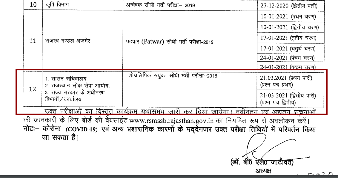 RSMSSB Stenographer Admit Card 2021 (OUT) Exam Date Released!
