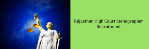 Rajasthan High Court Stenographer Recruitment 2020 Eligibility 313 Posts