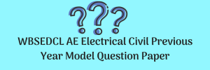 WBSEDCL AE Electrical Civil Previous Year Model Question Paper