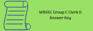 WBSSC Answer Key 2020 Group C Clerk D Solution Download Non teaching Post