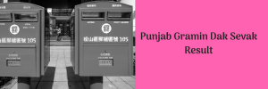 Punjab GDS Result 2020 Out! Download Punjab Postal Circle Gramin Dak Sevak Merit List
