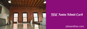 JSSC Amin Exam Date 2020 Admit Card Download ISCCE Prelims