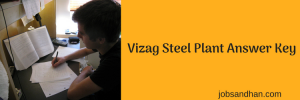 Vizag Steel Plant Answer Key 2020 Management Trainee Download PDF