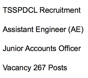 tsspdcl recruitment 2018 vacancy assistant engineer ae civil electrical junior accounts officer application form vacancy telangana jobs latest