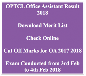 OPTCL Office Assistant Result 2020 Cut Off Marks OA Merit List Expected