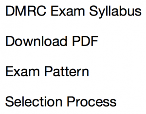 DMRC Syllabus 2020 JE Assistant Manager Maintainer Exam Pattern