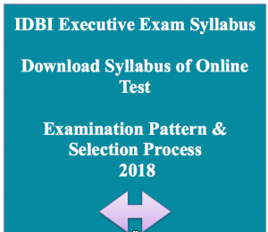 IDBI Executive Syllabus 2020 Download Exam Pattern Selection Process