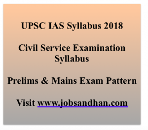 UPSC IAS Syllabus 2020 Prelims Civil Service Exam Pattern Download