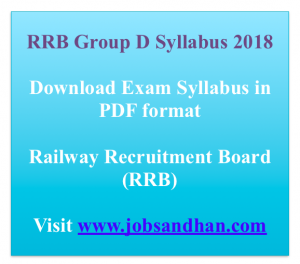 RRB Group D Syllabus 2020 Download Exam Syllabus Pattern Online Test