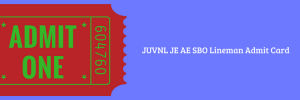 JUVNL Admit Card 2020 Exam Date JE AE SBO Lineman Written Test