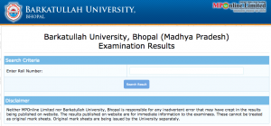 bu bhpal result 2018 barkatullah university year wise semester result check online