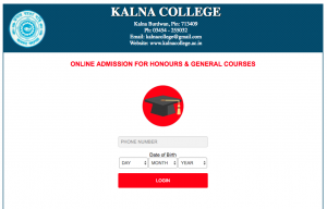 kalna college merit list 2021 admission in honous general pass courses
