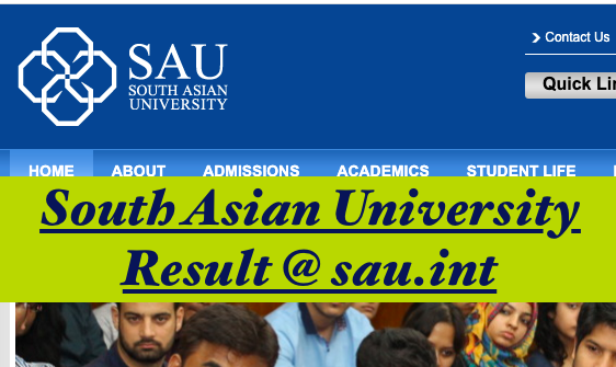 south asian university results released @ sau.int