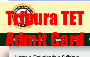 tripura tet 2021 admit card download link & exam date for paper 1 paper 2