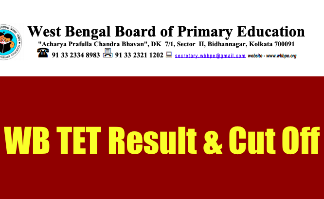 WB Primary TET Result 2021 Cut Off Marks wbbpe.org Expected