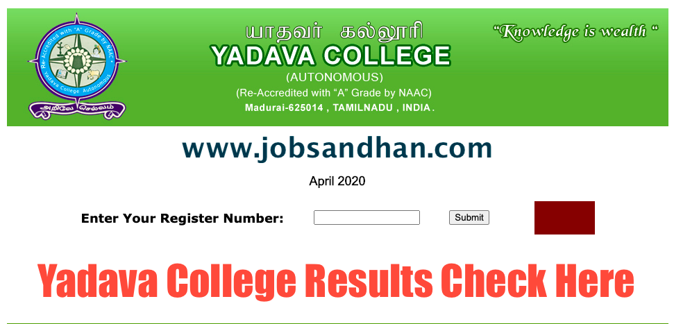 yadava college exam results 2020 check here online